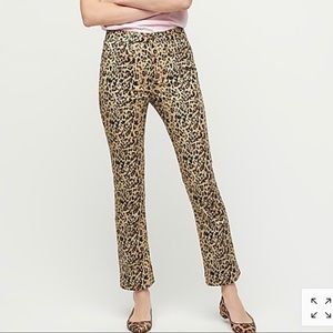 J. Crew NWT High Rise Kickout Crop in Leop…